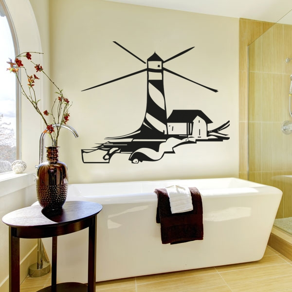 wandmotiv24 wandtattoo leuchtturm nr 226 wandtattoos fototapeten g nstig kaufen. Black Bedroom Furniture Sets. Home Design Ideas