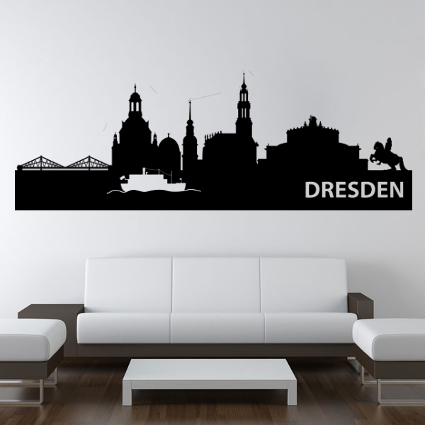 wandmotiv24 wandtattoo dresden skyline nr 569 wandtattoos fototapeten g nstig kaufen. Black Bedroom Furniture Sets. Home Design Ideas