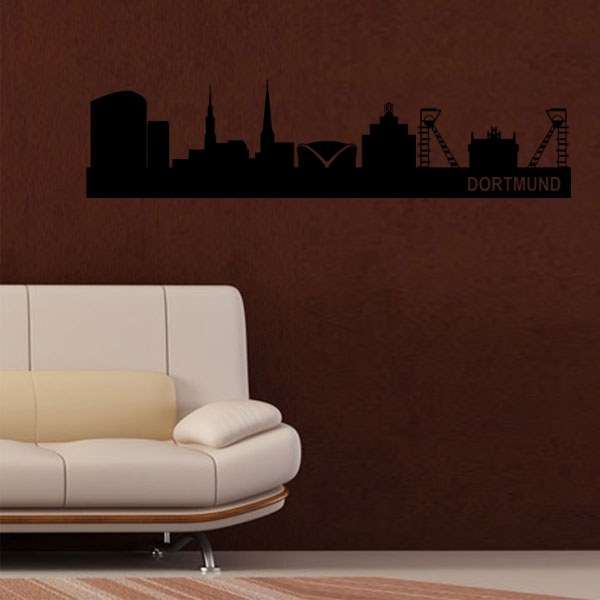 wandmotiv24 wandtattoo dortmund skyline nr 622 fototapeten g nstig kaufen. Black Bedroom Furniture Sets. Home Design Ideas