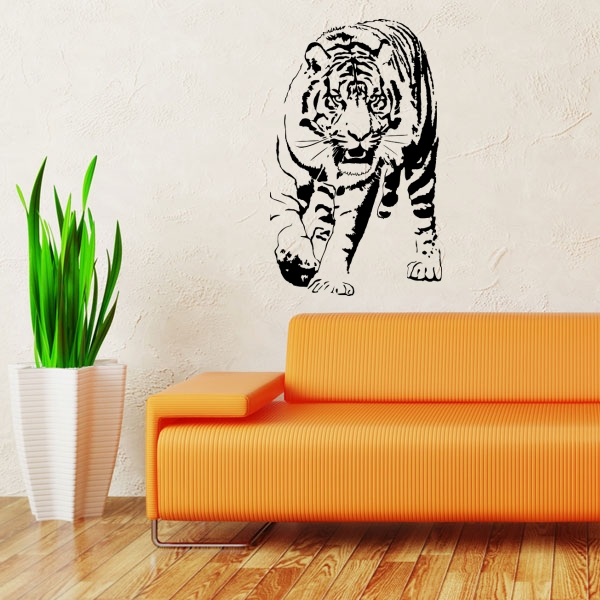 wandmotiv24 wandtattoo rennender tiger fototapeten g nstig kaufen. Black Bedroom Furniture Sets. Home Design Ideas