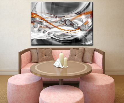 Wandbild Glasbild Diamant Orange Wandmotiv WB0531