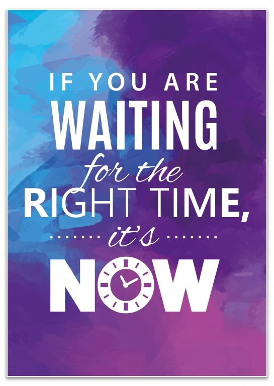 Poster als Wanddeko, Größe , Right time its now, Pastell M0014