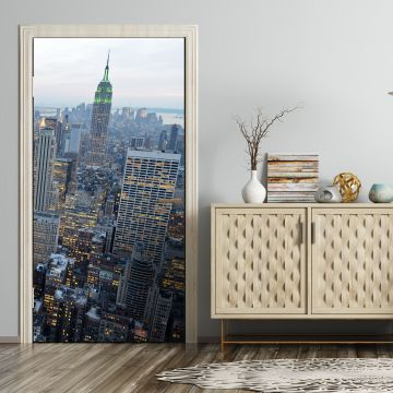 wandmotiv24 t rtapete new york skyview tapete kunstdruck t rbild m0254 angebote fototapeten. Black Bedroom Furniture Sets. Home Design Ideas