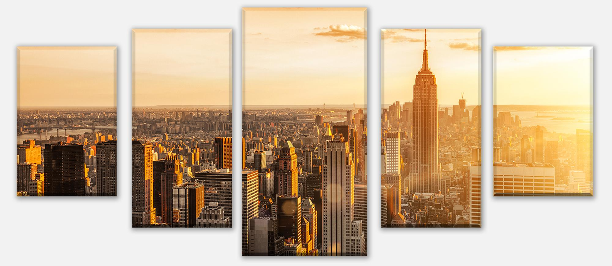 wandmotiv24 leinwandbild mehrteilig new york m0444 st dte fototapeten g nstig kaufen. Black Bedroom Furniture Sets. Home Design Ideas