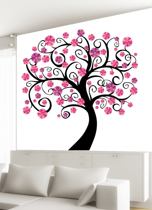 Wandmotiv24 bl ten baum xxl wandsticker for Wandsticker baum