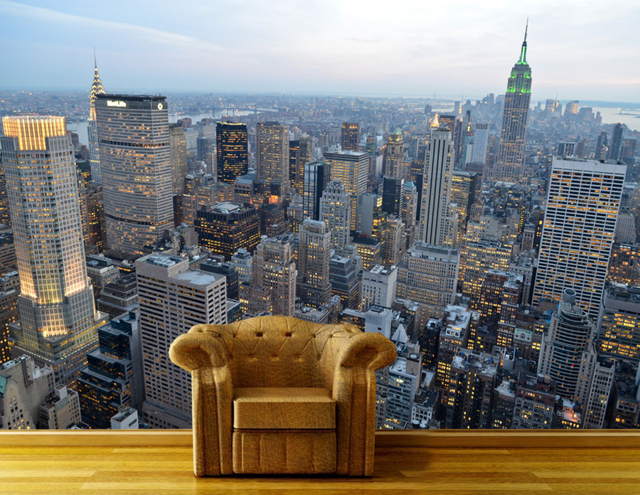fototapete new york skyview tapete xxl wandbild. Black Bedroom Furniture Sets. Home Design Ideas