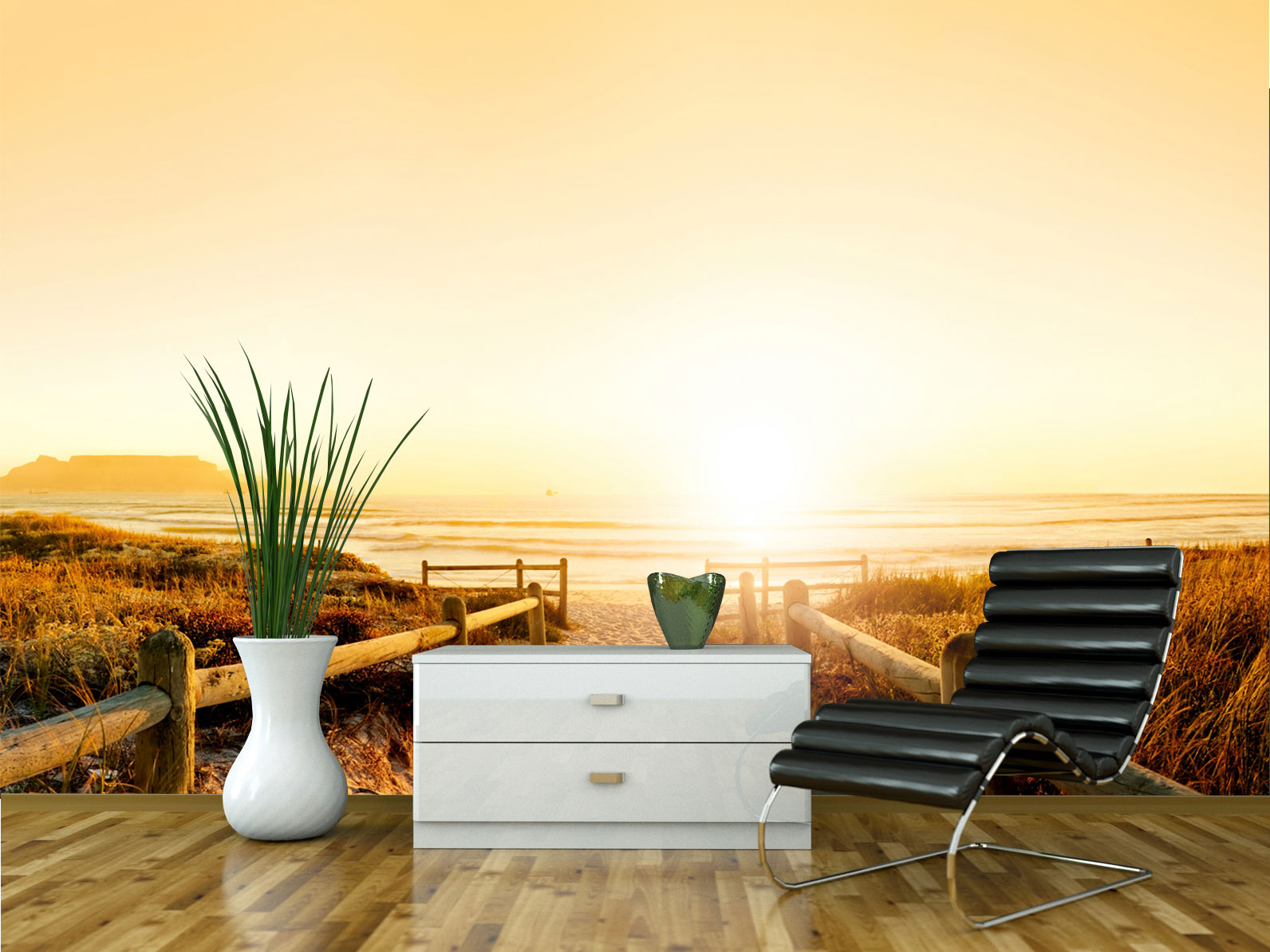wandmotiv24 fototapete sonnenuntergang ozean natur tapete kunstdruck wandbild xxl 400 x 280 cm. Black Bedroom Furniture Sets. Home Design Ideas