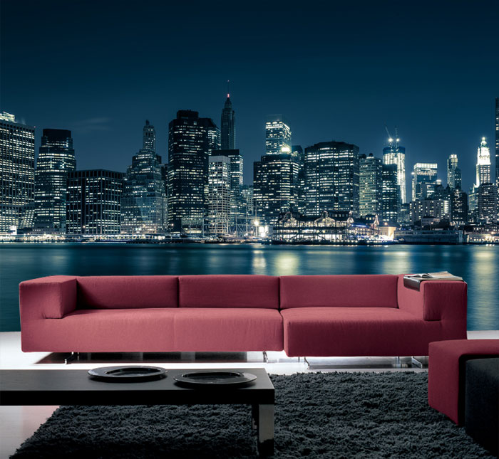 fototapete new york city tapete xxl wandbild. Black Bedroom Furniture Sets. Home Design Ideas