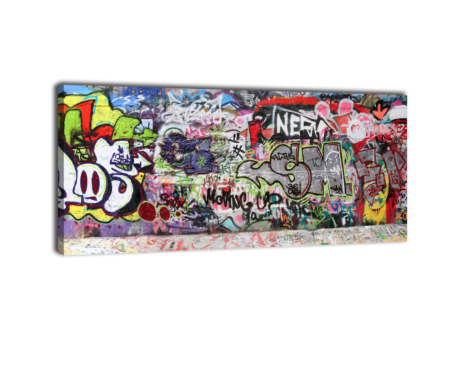 leinwandbild graffiti 3 bild auf leinwand kunstdruck ebay. Black Bedroom Furniture Sets. Home Design Ideas