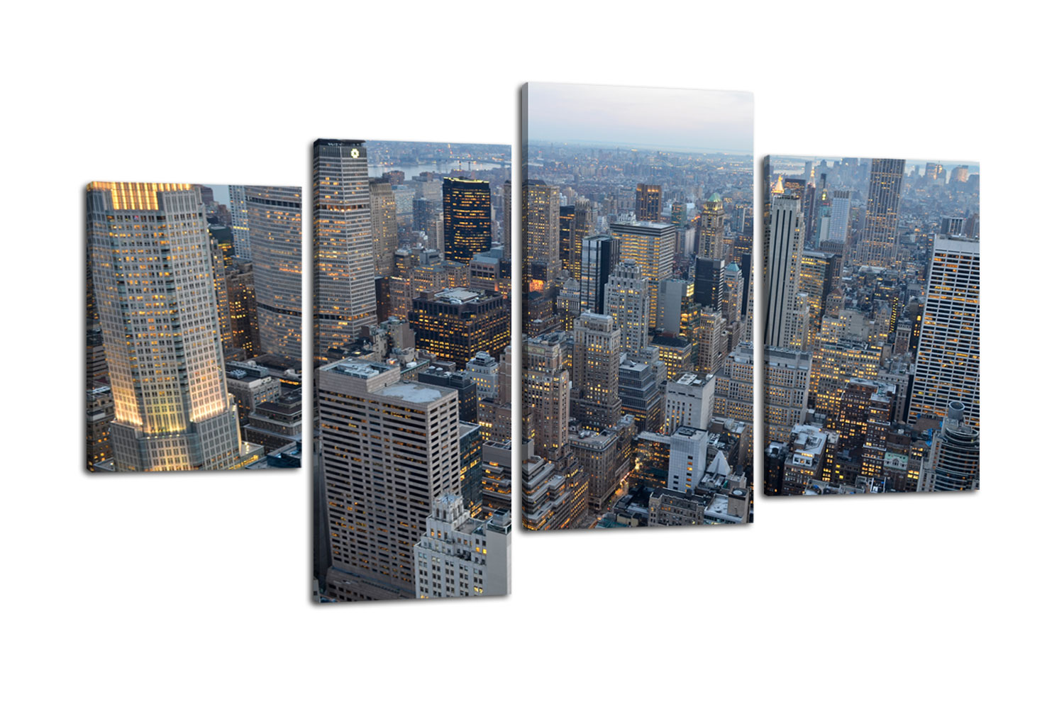 leinwandbild new york skyview bild auf leinwand kunstdruck. Black Bedroom Furniture Sets. Home Design Ideas